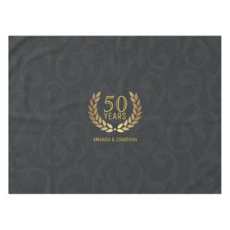 Mantel 50.o Personalizado del aniversario de boda de oro