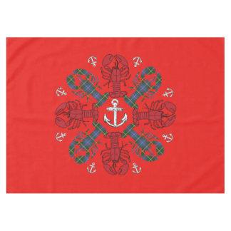 Mantel Azul rojo de N.S. Christmas del ancla del copo de
