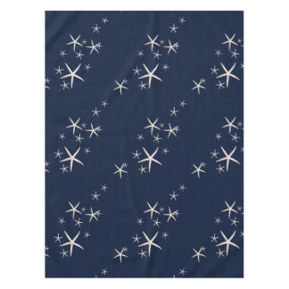 Mantel Azules marinos blancos de las estrellas de mar