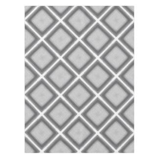Mantel Capa Jimette Diseño a cuadrados gris y blanco