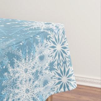Mantel Copos de nieve blancos en azul