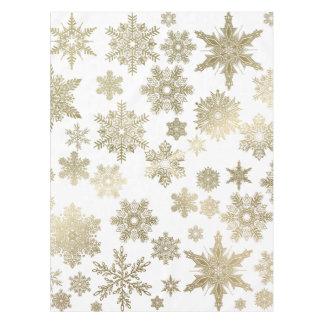 Mantel Copos de nieve de oro