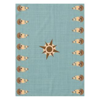 Mantel Cumpleaños azul del niño de la arpillera del barco