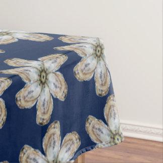 Mantel de la flor de la ostra - diseñe el azul de