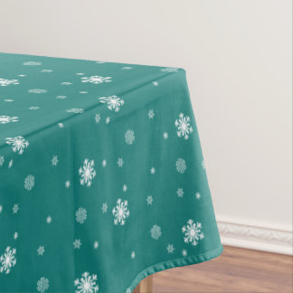 Mantel Dejáis le nevar, modelo de los copos de nieve en