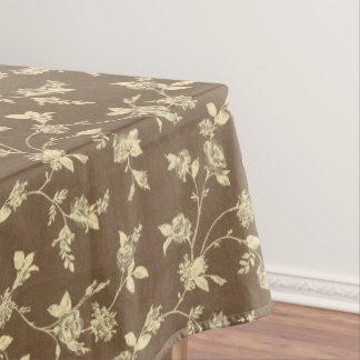 Mantel del estampado de flores de Brown