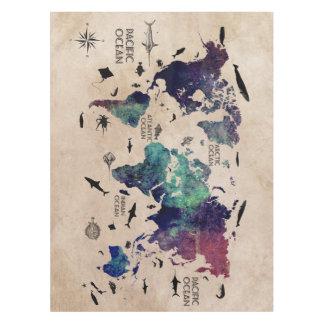 mantel del mapa del mundo