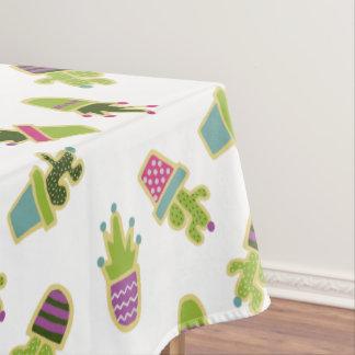 Mantel Diseño lindo del cactus con color de fondo de