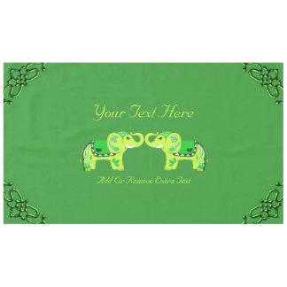 Mantel Elefante de la alheña (verde/verde lima)