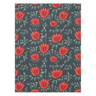 Mantel Estampado de flores rojo abstracto decorativo de