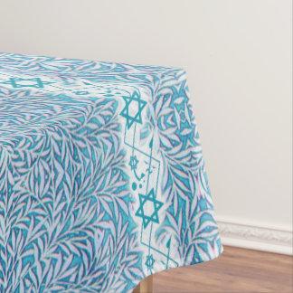 Mantel Estrella frondosa azul y blanca de la frontera de