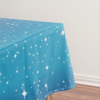 Mantel Estrellas simples/fondo azul Tablecloth1 de la