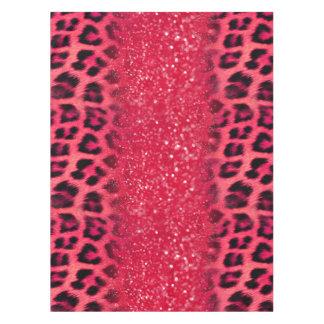 Mantel Falsos puntos rosados del leopardo del purpurina