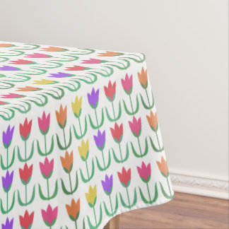 Mantel Filas coloridas de los tulipanes de la primavera