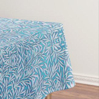 Mantel Frondoso azul y blanco