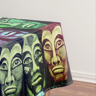Mantel Guerreros mayas - diseño pintado surrealismo