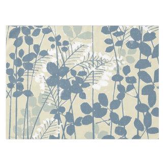 Mantel Impresión azul floral de las flores del arte