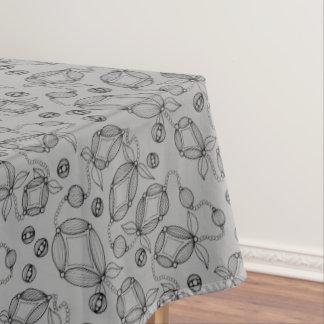 Mantel Línea floral diseño de la vaina del arte