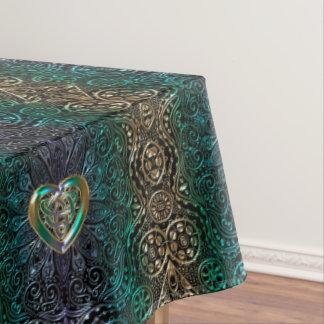 Mantel Mandala céltica del corazón en verde y original