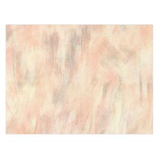 Mantel Mirada gris de color salmón de la sopa de mariscos