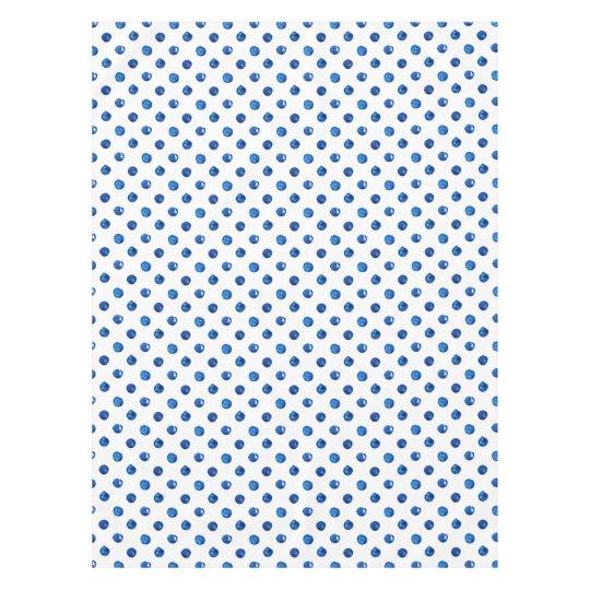 Mantel Modelo de lunares de los azules añiles de la