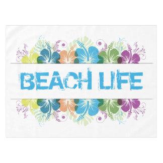 Mantel Modelo del hibisco de la vida de la playa