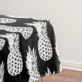 Mantel negro tropical del modelo de la fruta de la