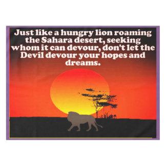 Mantel ¡No deje al diablo devorar sus expectativas!