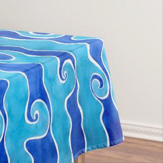 Mantel Ondas del azul de la aguamarina
