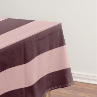 Mantel Rayas marrón y rosadas
