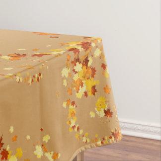 Mantel Remolino de la suposición de las hojas de otoño de