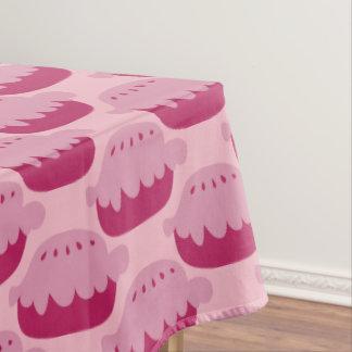 Mantel rosado lindo del modelo de los pasteles de