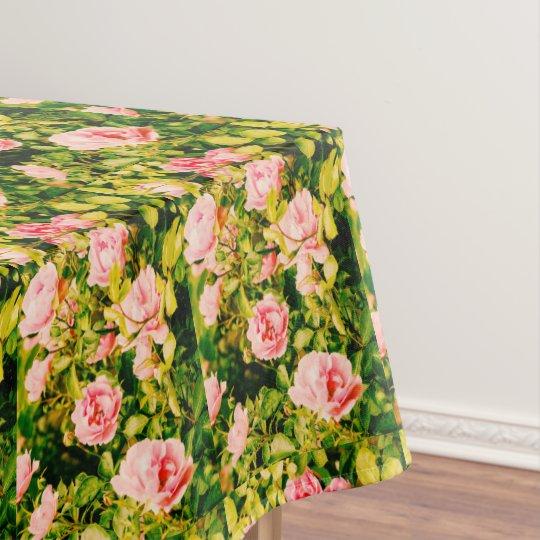 Mantel Rosas rosados del jardín, corredor bonito de la