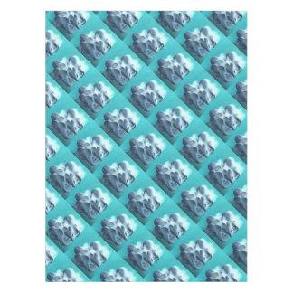Mantel Setas de ostra en azul