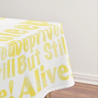Mantel Sueño privado pero aún vivo en amarillo