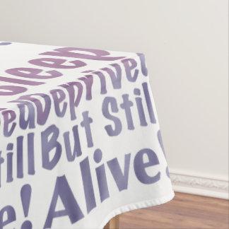 Mantel Sueño privado pero aún vivo en púrpuras