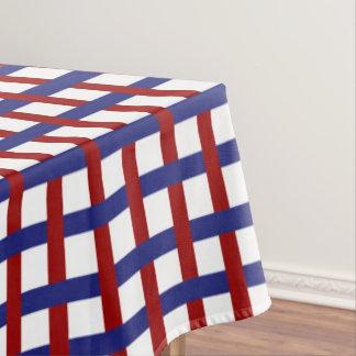 Mantel Tela escocesa blanca y azul roja