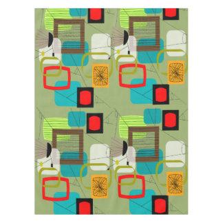 Mantel Verde abstracto de los mediados de siglo