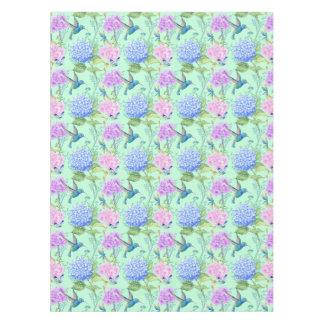 Mantel Verde menta del azul de la lavanda del colibrí del