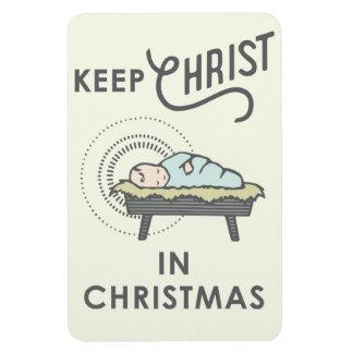 Mantenga a Cristo imán del coche del navidad