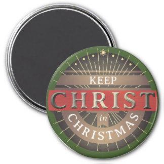 Mantenga a Cristo imán del navidad