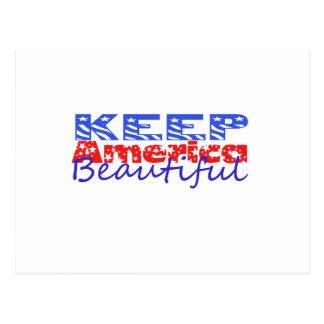 Mantenga América hermosa Postal