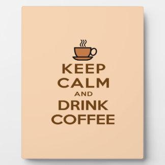 Mantenga café tranquilo y de la bebida placa expositora