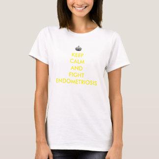 Mantenga camisa tranquila y de la lucha de la