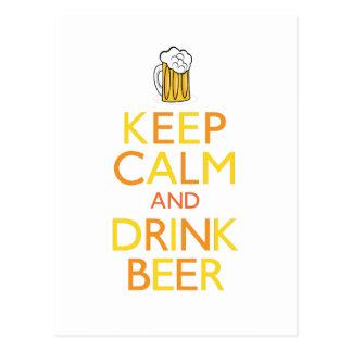 Mantenga cerveza tranquila y de la bebida postal