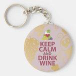Mantenga diseño único tranquilo y de la bebida del llaveros personalizados