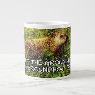 Mantenga el Groundhog taza del día de la marmota