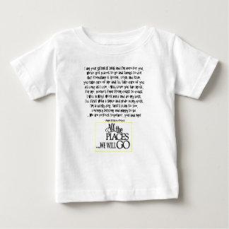 Mantenga el perro que el poema FNL DETRÁS Camiseta De Bebé