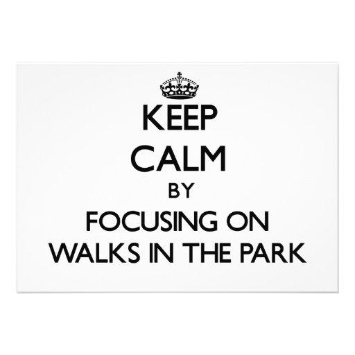 Mantenga la calma centrándose en paseos el parque anuncios personalizados
