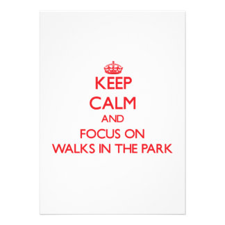 Mantenga la calma y el foco en paseos el parque anuncios